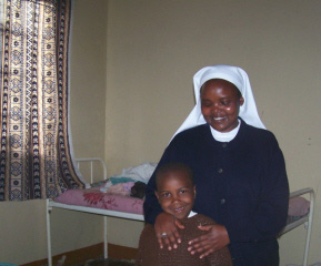 Veronica and Sr. Lucy in the dorm